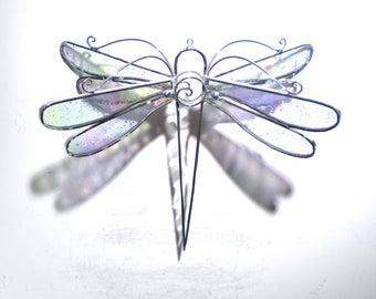L'hiver ailes - vitrail libellule pirouette - Medium clair Maison Jardin décor suspendu Suncatcher 3 dimensions Cour Art (prêt à être expédier)
