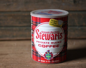 Stewarts Coffee can, with lid