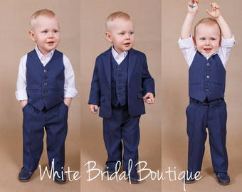 Wedding boy suit Ring bearer outfit Boy wedding suit Boy wedding outfit Ring bearer suit Baptism boy outfit Wedding suit Boy pants Boy vest