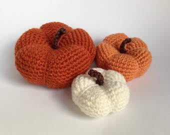 Crochet Pumpkin - Pumpkin - Halloween - Thanksgiving Decor - Holiday Decor - Photo Prop - Fall Decor