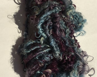 Handspun Art Yarn Lockspun Gotland for weaving, knitting, crochet, doll hair.