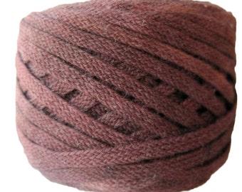 Flat Braid, 100% Organic Cotton, 25 Yards, Hand-Dyed, Chocolate