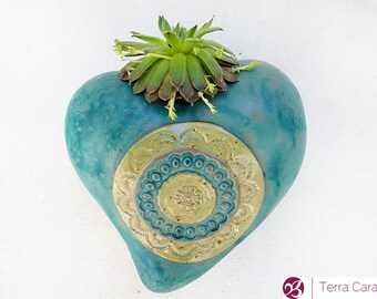 The Mandala Planter - ceramic planter for succulents - wall hanging