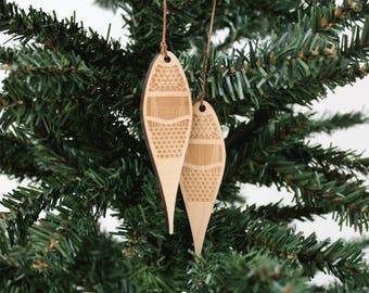 Schneeschuhe Ornament   Holz Ornament   Urlaub Dekoration   Urlaub Ornament   Christmas Ornament   Wohnkultur   Schneeschuhe   Hergestellt in Maine
