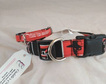 Texas Tech Dog Collar, Cat Collar, Adjustable Collar, Breakaway Cat Collar, Texas Tech University, Collier de chien, collar de perro,