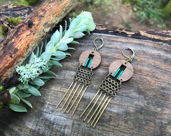 Wooden Earrings - Fringe Forever