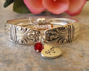"Spoon Bracelet, Original 1944 ""Danish Queen"" Pattern,Vintage Silverplated, all sizes available"