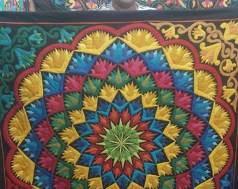 Atef Kamal with his New Amazing Radiating Lotus Kharshofa Multi Colors, Master Piece by Tentmakers of Cairo.