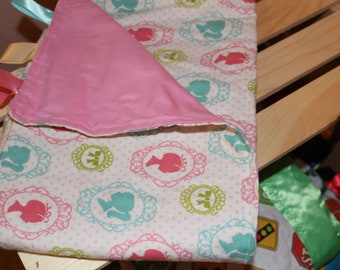 Princess silhouette baby blanket