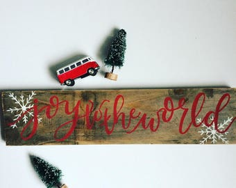 Joy to the World - Reclaimed Wood Sign