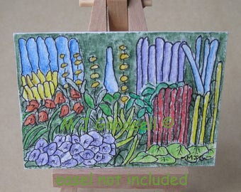 Gardens #1005 - ACEO original acrylic painting