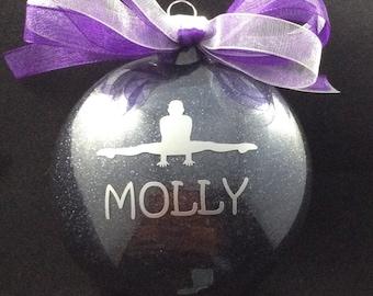 Personalized Gymnastics Disc Christmas Ornament