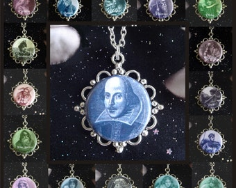 William Shakespeare and Characters from His Plays Pendants, You Choose from 17 Characters