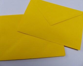 5 yellow colored envelopes envelope C6 16 X 11.5 cm