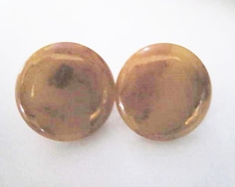 Small Pierced Bakelite Earrings