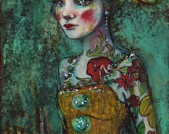 Circus Performer-ACEO  Open edition reproduction by Maria Pace-Wynters