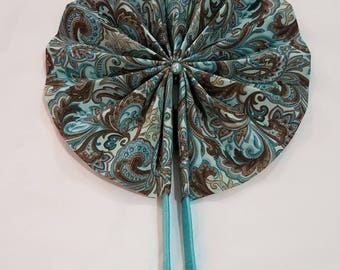Hand Fan with Carrying Pouch. Hand fans are great for outdoor events, church, store, and many other moments that require immediate air.