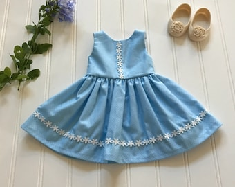 Blue summer doll dress