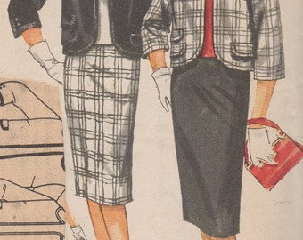 Bust 34-1960's Misses' Overblouse, Skirt and Jacket Simplicity 3579 Size 14