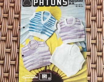 Vintage Knitting Pattern - Childrens Tank Tops