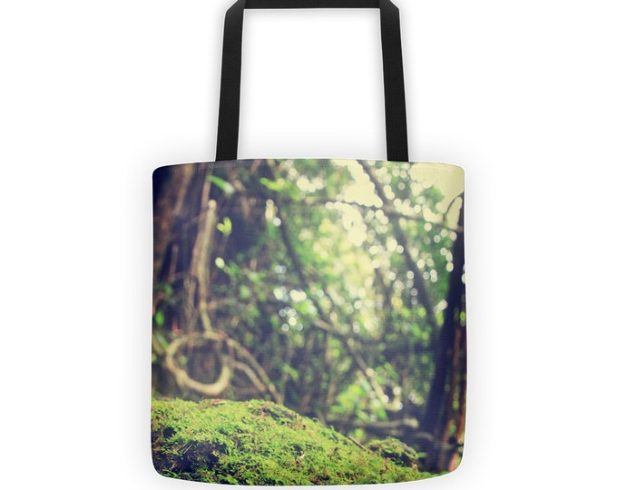 Tropical Rain Forest Tote for Eco Shopping and School and Sundry