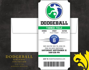 DODGEBALL . birthday invitation