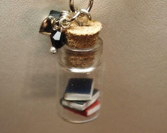 Reserved for Tina Tiny Books in a Jar 5pk