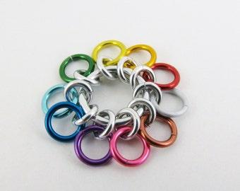 10 Rings - Sock Rainbow Row Counter
