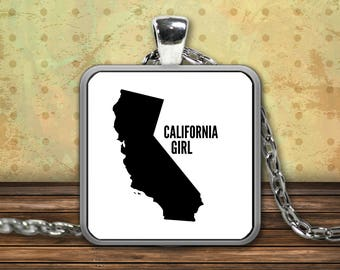 CALIFORNIA GIRL Sterling Silver Pendant Necklace