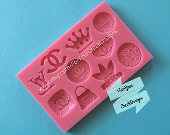 Fashion Themed Silicone mold for chocolate, fondant. clay, resin.