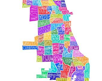 Chicago Neighborhood Print
