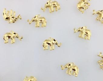 Gold Elephant Charm // Combo Bracket 3 {CG060}