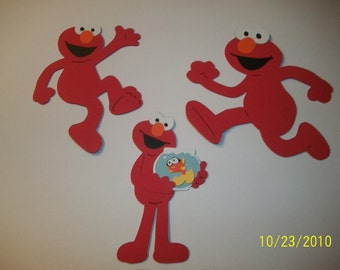 Elmo die cuts- set of 3