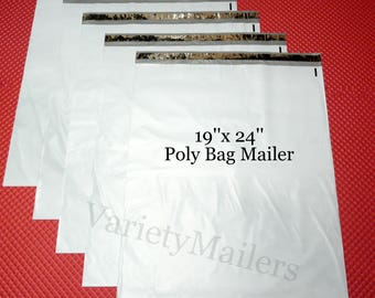 "5 Large 19""x 24"" Poly Bag Envelopes Plastic Shipping Mailing Postal Mailers - Free Shipping"