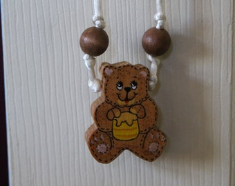 Hand painted Bear and his Honey Pot