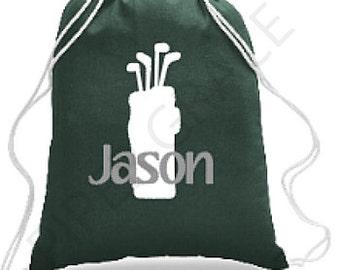 Golf Drawstring Bag, Golf Bag, Golf Gift Ideas, Golf Gift, Golf Backpack, Kids Golf Bag, Sports Bag, Sports Backpack