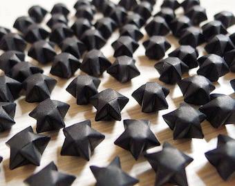 Origami Lucky Stars - Black Wishing Stars,Embellishment,Gift Enclosure,Home Decor