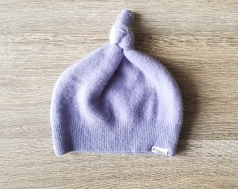 Best TODDLER Cashmere Beanie // 1-4 years // Lavender // Upcycled Cashmere sweater // Kid Beanie // Knotted Beanie