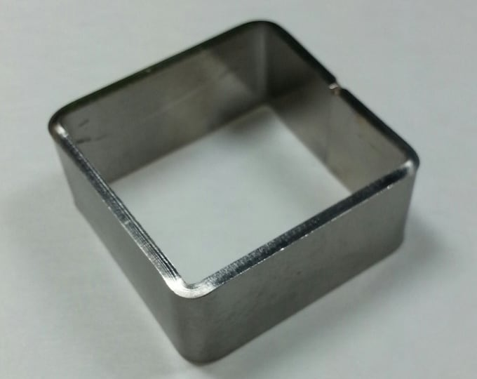 """Stainless Mini Square Mold 1"""" x 1"""" x 1/2"""" #SMS"""