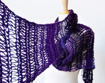 Knitting PATTERN, Knit Scarf Pattern, Fashion Scarf Pattern, Knitted Scarf Pattern, Womens Scarf Pattern, Easy Knitting Pattern