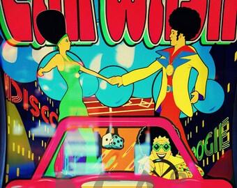 Retro 70's boogie disco Pop Art High Quality downloadable Poster print
