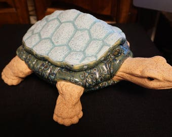 Large Hand painted Ceramic Turtle