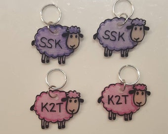 Sheep Stitch Markers Reminders SSK K2T