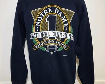 Vintage Notre Dame National Champions Sweatshirt M/L