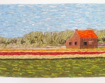 The Amsterdam Rug Hooking Pattern Instant Download