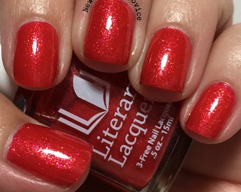 Arousal - Full Sized Tomato Red Jelly Nail Polish