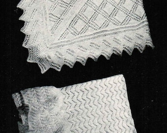 Vintage Baby Shawl Patterns PDF (set of 2) / Monarch Baby Blanket patterns / Baby afghan / PDF knitting pattern