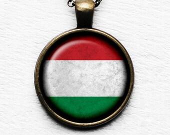 Hungary Hungarian Flag Pendant & Necklace