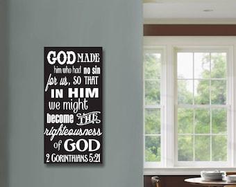 God Made Him Wall Hanging, Corinthians, Spiritual Wall Art, Spiritual Wall Decor, Religious Wall Decor, Religious Wall Art, Inspirational