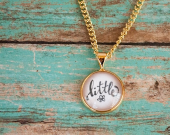 St Therese Little Flower Necklace, Gold Catholic Saint Necklace, Therese of Lisieux Gold Necklace, First Communion Gifts for Girls